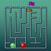 Una carrera de laberinto juego