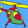 Para colorear helicóptero de aire juego