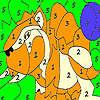 Solo tigre salvaje para colorear juego