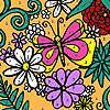 Para colorear jardín flores juego