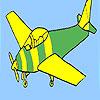 Colorear avión básico juego