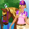 Barbie va a caballo juego