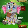 Cuidado del bebé elefante accidente juego