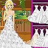 Vestido de novia hermoso juego