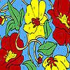 Para colorear jardín amapola hermosa juego