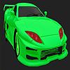 Mejor coloración de verde coche concepto juego
