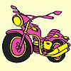 Colorear gran moto express juego