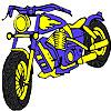 Colorear moto azul grande juego