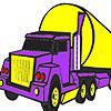 Colorear gran camión púrpura juego