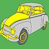 Colorear grandes coches clásicos históricos juego