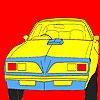 Para colorear el oeste grande rueda coche juego