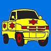 Para colorear de camión de estrella grande juego