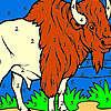 Gran bisonte en el colorante de la granja juego