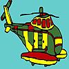 Para colorear helicóptero militar grande juego