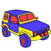 Colorear jeep de selva grandes juego