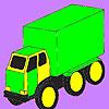 Para colorear de coches de carga grande juego