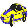 Colorante azul coche clásico juego