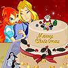 Pastel de Navidad flor cielo juego