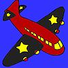 Colorear avión de alas negras juego