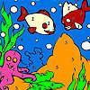Peces de mar para colorear juego