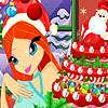Pastel de Navidad de floración juego