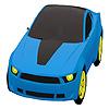 Para colorear de coches de ciudad azul juego