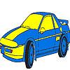Para colorear de coches de lujo azul juego