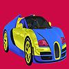 Brillante para colorear de coches de dos colores juego
