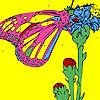 Mariposa en los dedos de los pies para colorear juego