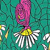 Mariposas y margaritas para colorear juego