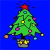 Colorear árbol de navideña juego