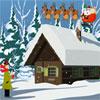 Nieve de la Navidad morada Escape juego