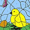 Pollito y huevo para colorear juego