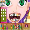 Chica encantadora en el dentista juego