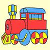 Clásica rápido vagon para colorear juego