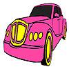 Colorear autos rosa juego