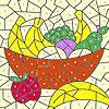 Para colorear cesta de frutas clásico juego