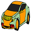 Comfortable best car coloring juego