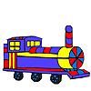 Colorear carro largo colorido juego