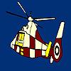 Colores para colorear vuelo helicóptero juego