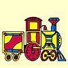 Tren de colores para colorear juego