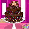 Pastel de Chocolate de colores juego