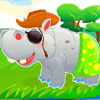 Cuidado lindo hipopótamo juego