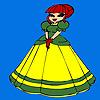 Colorear princesa poco lindo juego