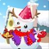 Lindo muñeco de nieve vestir juego