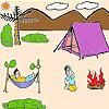 Colorear tiempo de lindo picnic juego