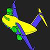 Colorear avión personalizado juego