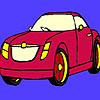 Colorear coche rojo oscuro juego