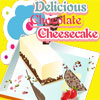 Delicioso cheesecake de chocolate juego