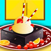Delicioso helado con Brownie juego